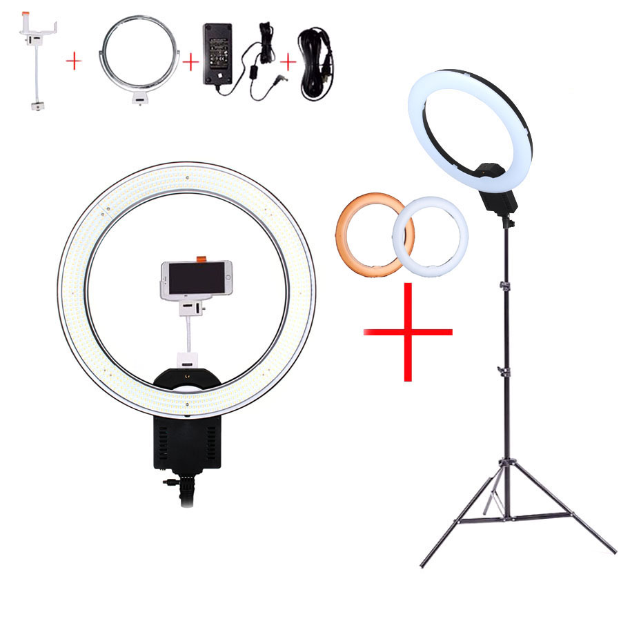 NanGuang CN-R640 19Photo/Video/Studio/phone 640 LED 5600K Camera Macro Ring Light Lamp for Makeup Photography With tripod Stand haje jan kamps macro photography photo workshop