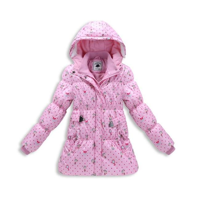 Nova Marca Do Bebê Meninas Roupas de Inverno 2017 Mais Grossa de Veludo Com Capuz Crianças Jaquetas Casacos de Moda Quente Para Baixo Parkas Meninas Outwears
