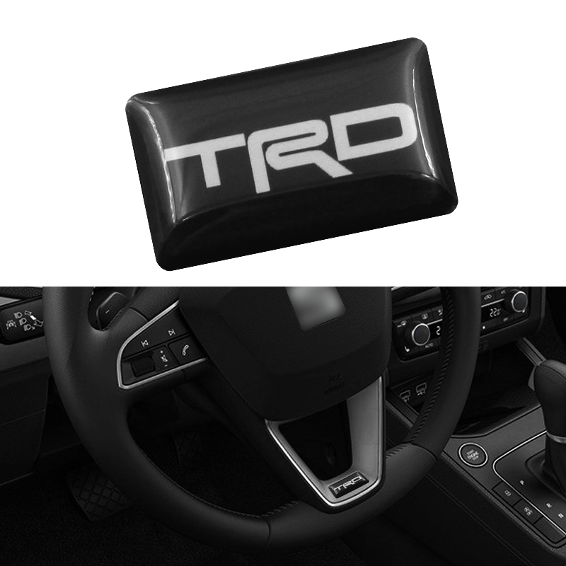1pcs Car TRD Logo 3D Wheel Sticker Auto Emblem Badge Decal For Toyota CROWN REIZ COROLLA Camry VIOS Car Styling Accessories executive car