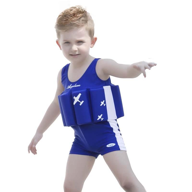 2017 new blue aircraft children kid boys swimwear Buoyant swimsuit - Sportswear and Accessories