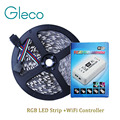 DC12V LED Strip 5050 RGB Set 60LED/m 5M ,IP20 IP65 Waterproof RGB LED Strip 5050 + WiFi RGB LED Controller