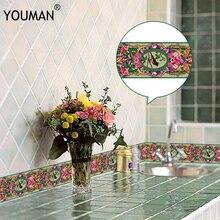 Papel tapiz 3D de 10M, borde de PVC, línea de rodapié autoadhesiva, pegatina impermeable, azulejo moderno extraíble, pegatina de pared para cocina y baño