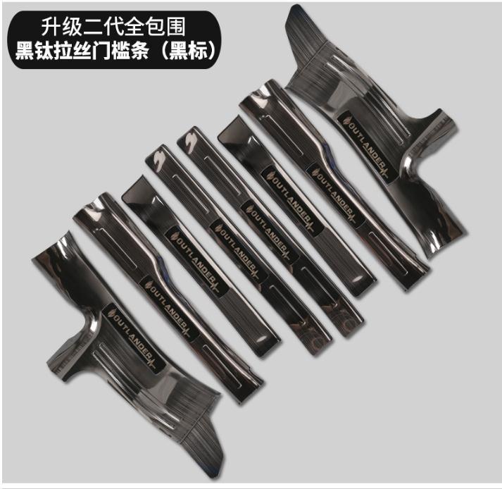 Acier inoxydable de haute qualité à l'intérieur de la plaque de seuil externe/seuil de porte pour 2013 2014 2015 2016 2017 Mitsubishi Outlander samouraï