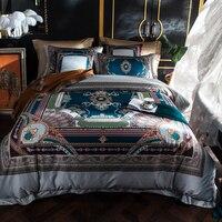 100S Egyptian Cotton Luxury Royal Designer Bedding Set King Queen Size Boho Bed Set Bed Cover Duvet Cover Bed Sheet/linens Set