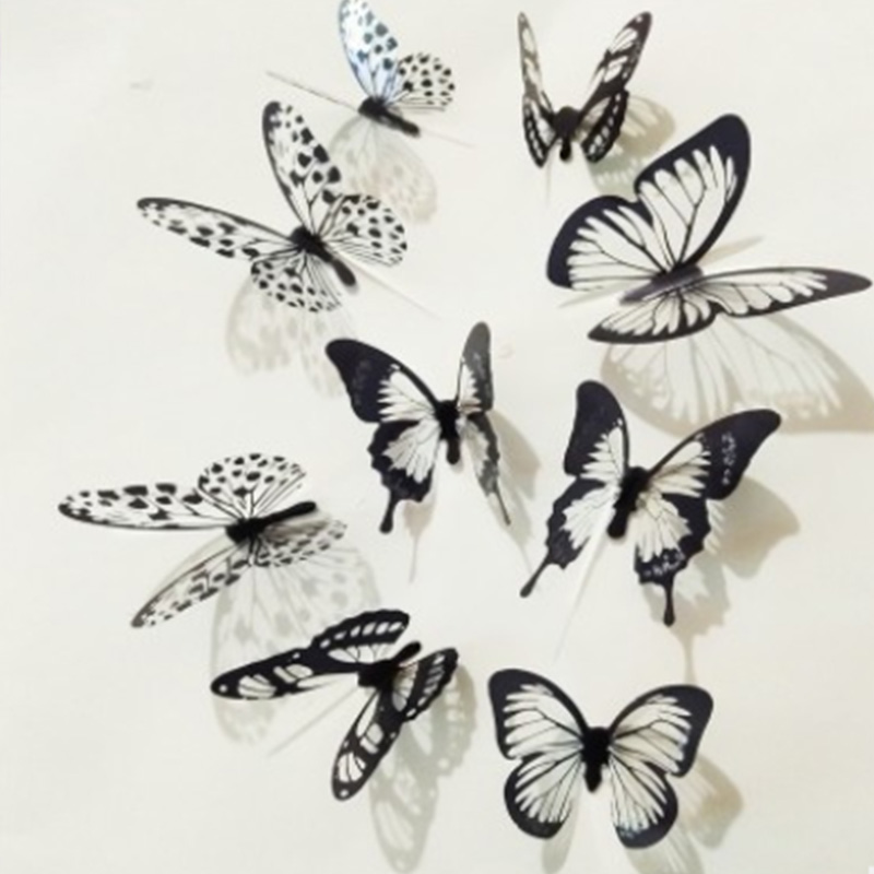 Butterfly 3D Wall Decals Removable Sticker Wedding Nursery Decor Home Office Art