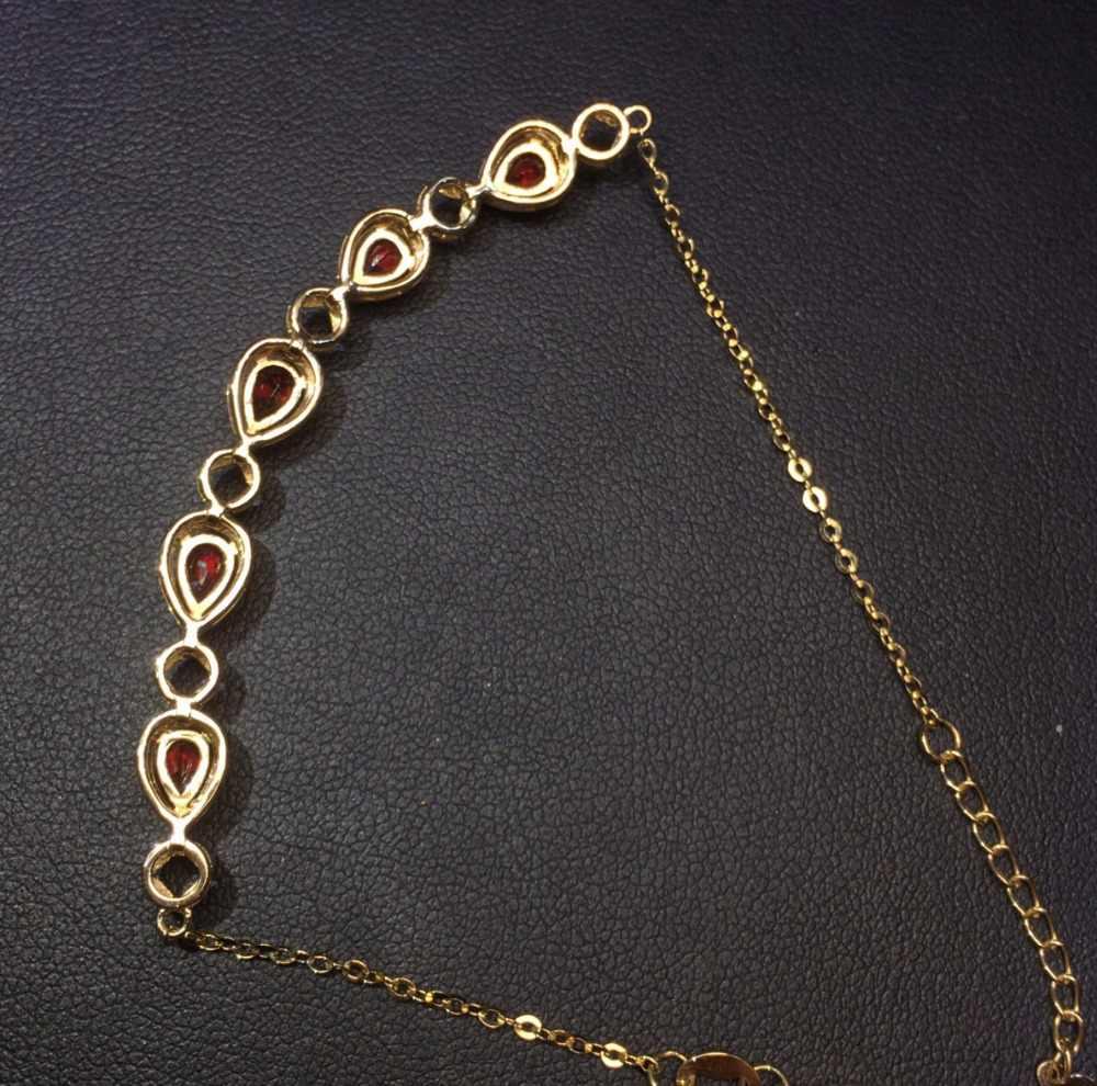 Fine Jewelry Real 18 K Ouro Amarelo AU750 G18K 100% Vermelho Natural Rubi Gemas Jóias Amor Pulseiras para as mulheres Bem pulseira