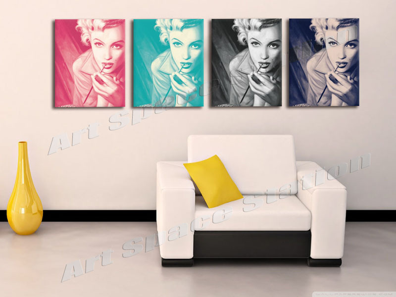 4 Panel Home Decor Hd Print Portrait Painting On Canvas No Frame Marilyn Monroe Photo Pop Art Hollywood Star Poster Wall Decor In Painting Calligraphy