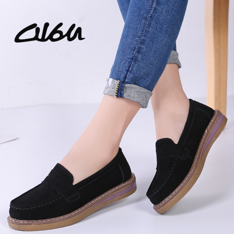 best womens black leather penny loafers