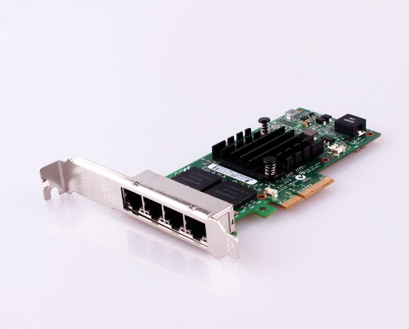 PCI-Express PCIe X4 Four RJ45 Gigabit Ports Server Adapter NIC I350-T4 for Intel