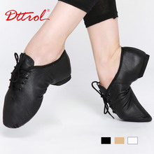 Children lace up Geniune pig leather jazz shoes for kids quality oxford dance shoes Child jazz dancing shoes  4715