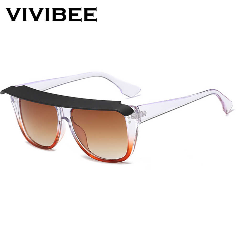 874537fc96 ... VIVIBEE 2019 Trend Fashion Big Size Woman Sunglasses Retro Top Vogue Oversized  UV400 Vintage Square Italy