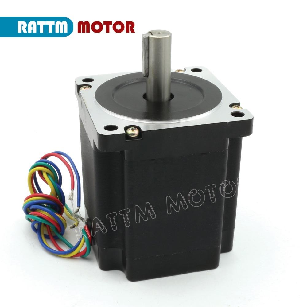 Nema34 High torque 878oz-in 5.6N CNC Stepper motor 86x98mm stepping motor/4.0A for CNC engraving machine