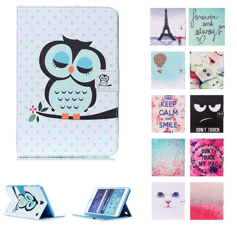 Luxury Stand Pu Leather Case Cover for Samsung Galaxy Tab A 8.0 2016 T350 T355 SM-T355 Tablet Funda Cases Silicon Back CoverLuxury Stand Pu Leather Case Cover for Samsung Galaxy Tab A 8.0 2016 T350 T355 SM-T355 Tablet Funda Cases Silicon Back Cover