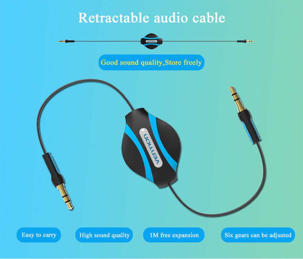 Image 5 - HDMI cable HDMI Vention 3.5mm Jack Male To Male Flexible Retractable Stereo Aux Audio Cable Cord  0508-in Computer Cables & Connectors from Computer & Office