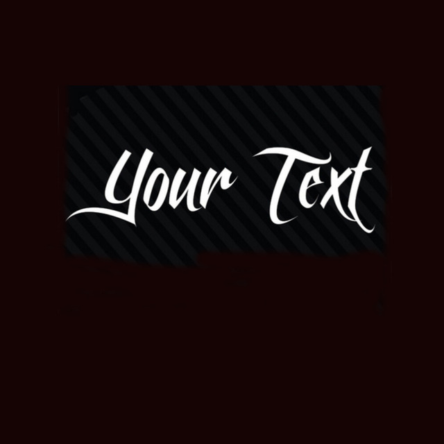 20 pieces lot wholesale personalized name customized vinyl decal sticker car window wall