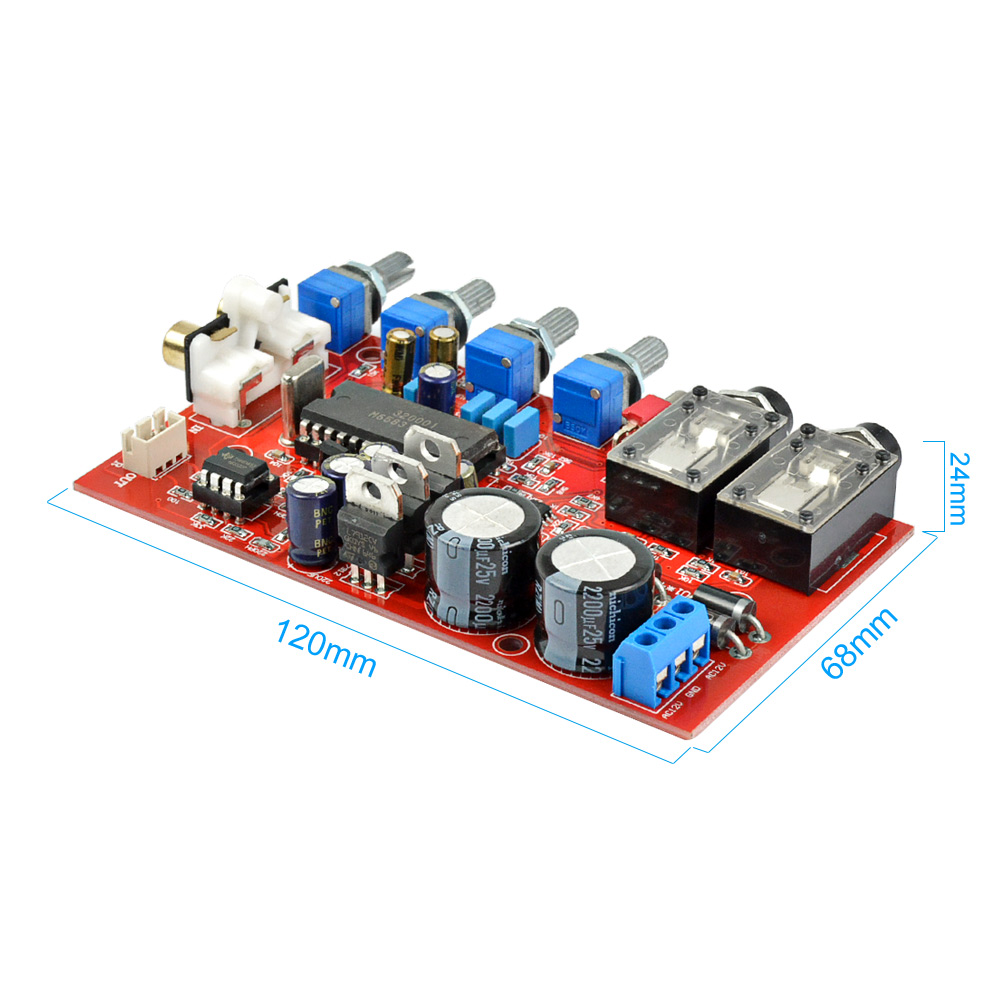 AIYIMA M65831AP + NE5532 preamp board with Karaoke fuction preamplifier  board dual AC12V-0-12V