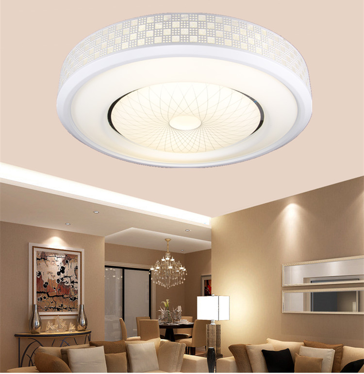 Creative LED ceiling lamps for living room simple bedroom lamp remote control Ceiling Lights nine Simple Round LED ZA creative star moon lampshade ceiling light 85 265v 24w led child baby room ceiling lamps foyer bedroom decoration lights