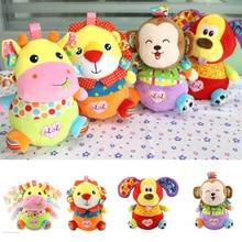 цены Meng Bear Plush Baby Rattle Toys Developmental Newborn Infant Musical Animal Toys Tumbler Crib Stroller Bed Mobiles For Baby Toy