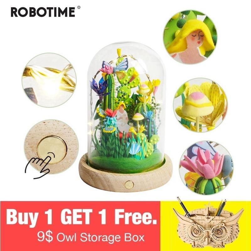 Robotime 4 sortes pâte à modeler avec Led et boîte en verre coloré polymère créatif argile pour travaux pratiques jouet créatif cadeau pour enfants adulte DC