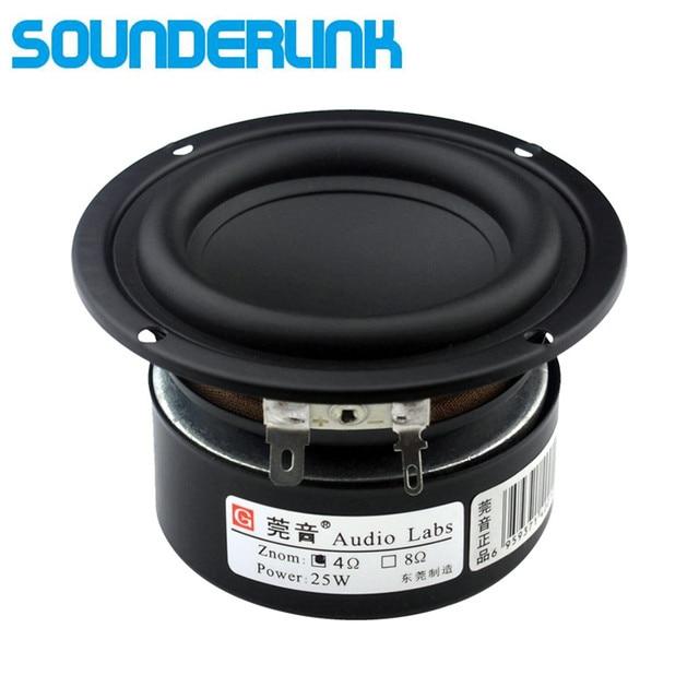 Sounderlink etiquetas de áudio 3 25w, subwoofer, woofer, graves, driver de alto falante cru 4 ohm 8ohm para diy, 1 peça monitor de áudio home theater