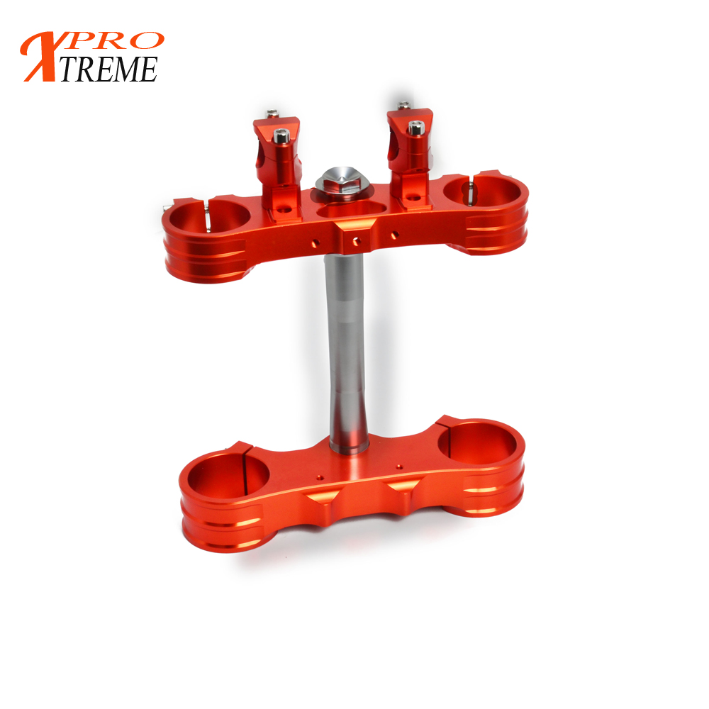 Motorcycle CNC Triple Tree Clamps For KTM SX SX-F EXC XC-W XCf-W EXC-F 125 250 350 450 500 525 530 2000-2014 цена