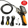 "NTS200 3.5"" LCD Digital Borescope USB Endoscope 8.2mm 5M Wire Probe Snake Inspection Video Zoom Rotate Camera Waterproof 720P HD"