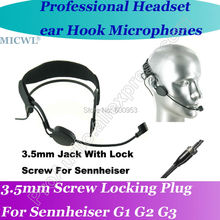 цена на MICWL Head worn Wireless Headset Microphone for Sennheiser ew G1 G2 G3 Bodypack Mic System