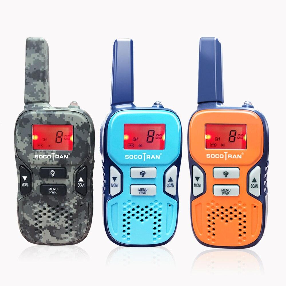 SOCOTRAN R8 PMR446 Walkie Talkies Kids Mini Two-Way Radio Pmr Radio Station Children Gift/Family Use/Camping/Hiking 100-1500M