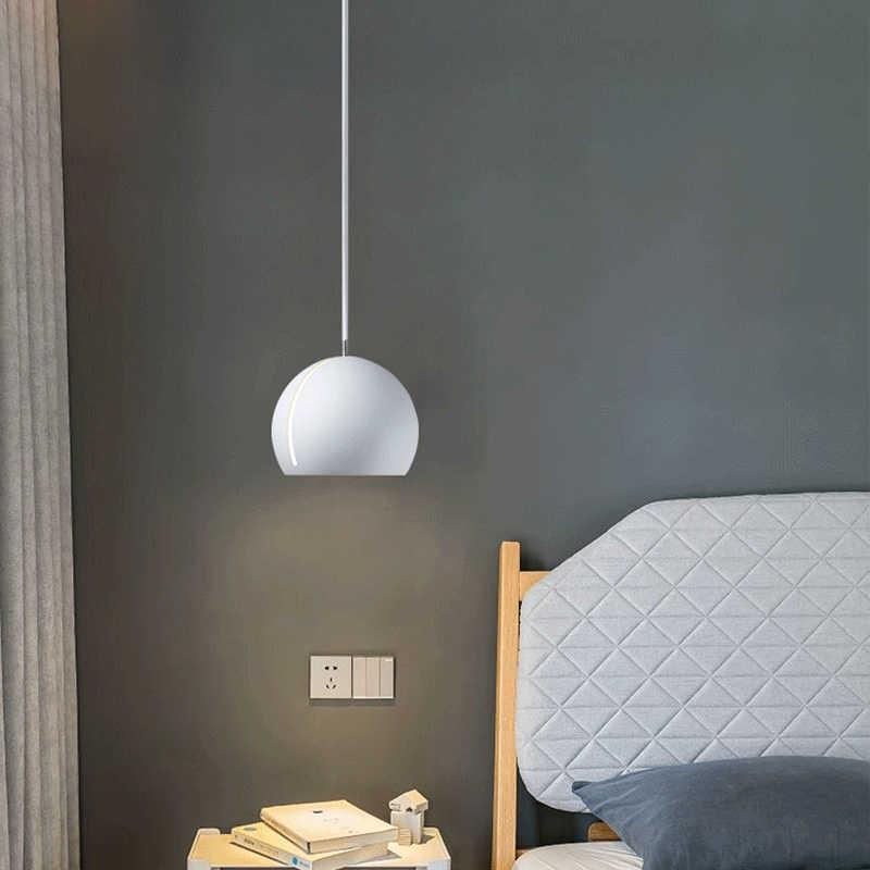 Минимализм люстра светодиодный подвесный светильник Регулируемая абажур гладить подвесной светильник для столовой Спальня ресторан-бар зотолой плафон черный