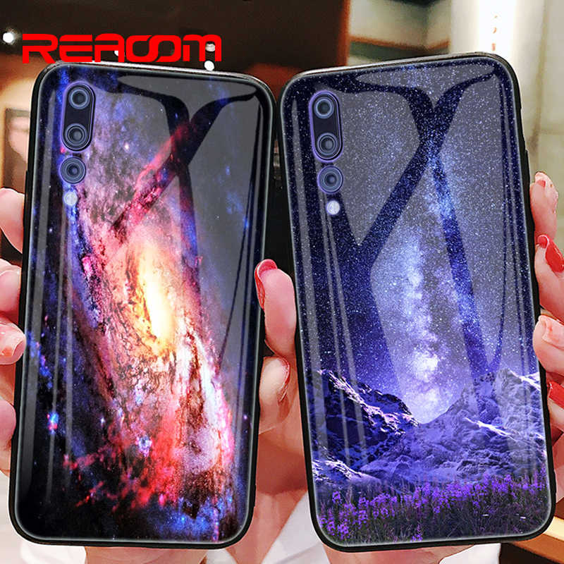 Tempered Glass Case for Huawei P20 Pro Phone Case for Huawei Mate 20 pro 10 P20 Lite Honor 10 9 Lite 7A Y6 Nova 3 Patterned Case
