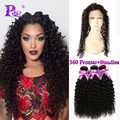 360 Lace Frontal with Bundle Malaysian Curly Hair with Closure Kinky Curly Frontal with Bundles Human Hair with Frontal Closure