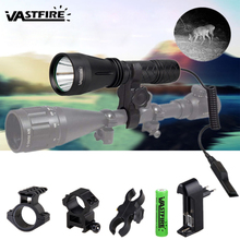цена на 10W IR 940nm Infrared Night Vision Hunting Flashlight LED Outdoor Tactical Weapon torch+18650+Charger+3*Rifle Scope Mount+Switch