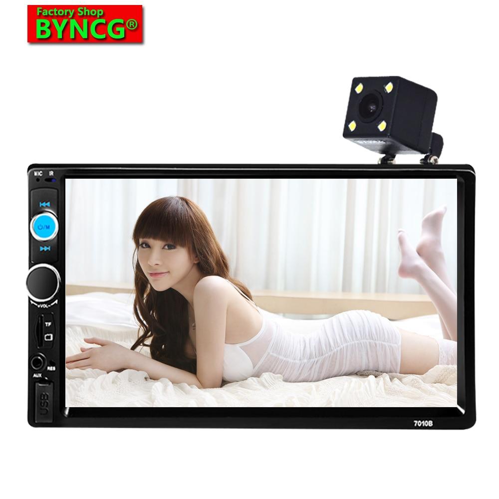 BYNCG 7010B 7 inci 2 Din HD AutoRadio Bluetooth USB / TF FM Aux Input - Kereta Elektronik