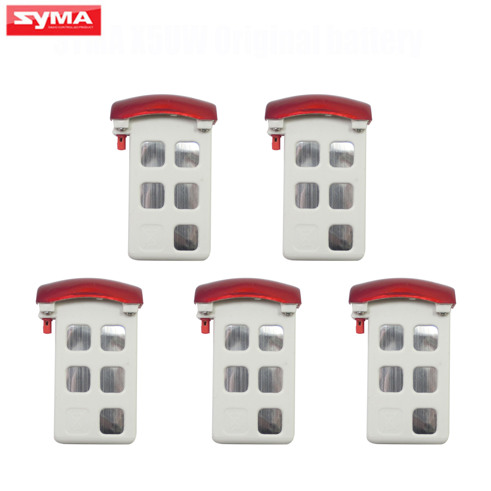 Original Syma X5UW X5UC RC Helicopter Battery 5Pcs 3.7V 500mAh Li-po Battery Spare Parts Quadcopter Drone Accesaries chamsgend best seller free shipping new full set replacement spare parts for syma s107 rc helicopter red mar11 wholesale
