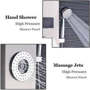 Image 3 - ULGKSDก๊อกน้ำห้องอาบน้ำฝักบัวนวดJets Tub Showerคอลัมน์แตะLEDน้ำตกRain ShowerแผงPara Douche