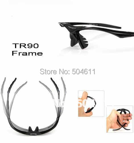 8153979562a ... LVXING Cycling Running Outdoor Sports Sunglasses Sport Glasses  Exchangeable 5 Lenses Unbreakable Polarized UV400 for RC ...