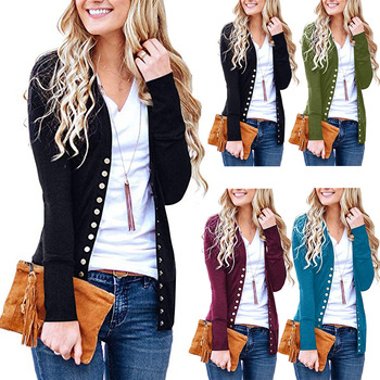 Knit Snap Cardigan Sweater
