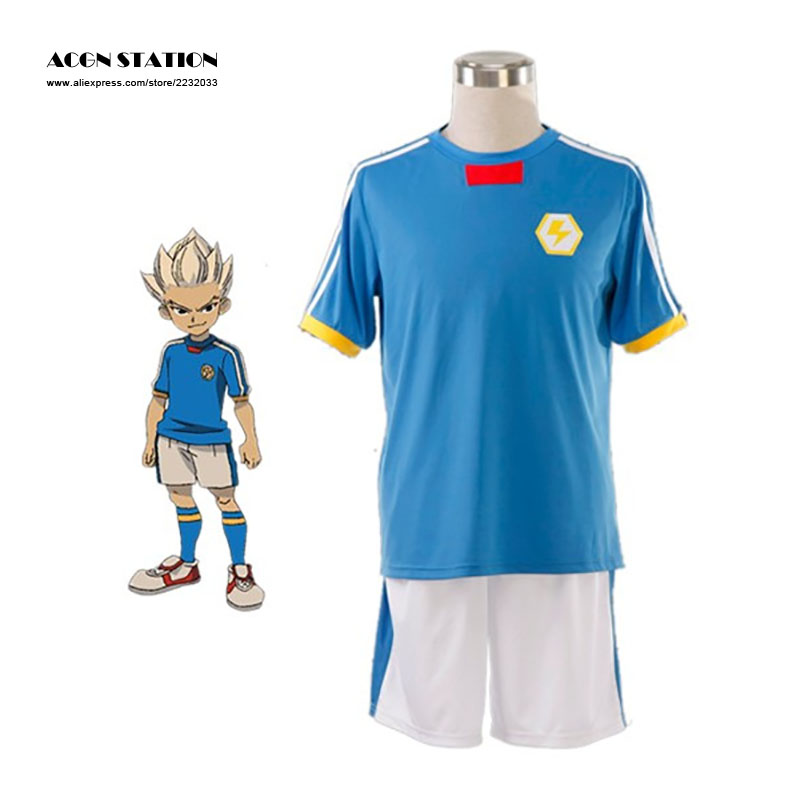 2018 New Anime Inazuma Eleven Gouenji Shuuya Japan Any Size Hot Sale Halloween Blue Cosplay Costumes