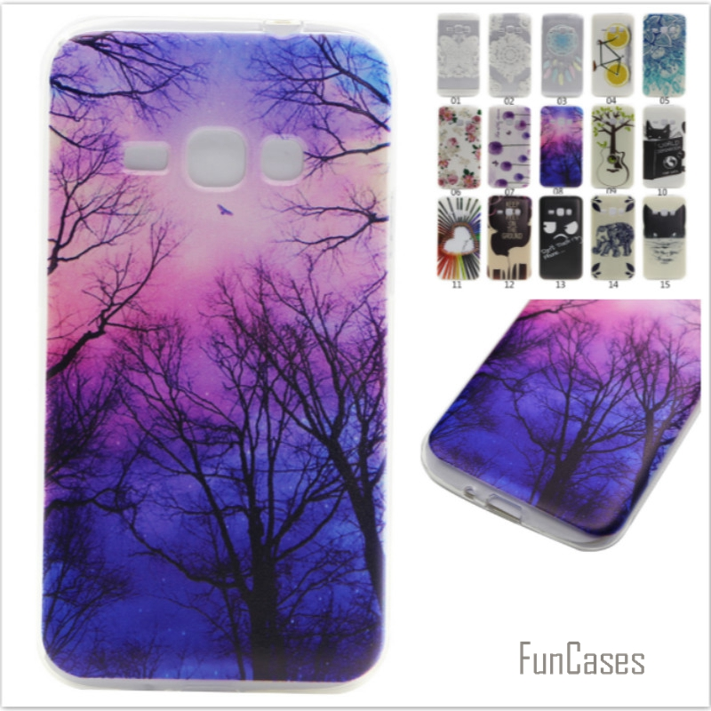 Soft Silicone Case For coque Samsung Galaxy J1 2016 J120 J120F Phone Case cover for coque Samsung J120 Cartoon Lemon Back Cover