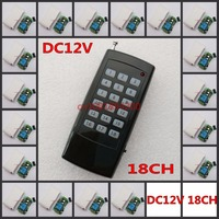 18 CH Remote Switch DC 12V Relay Receiver Transmitter Light Lamp LED Power Remote ON OFF