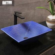 Lavabo de cerámica encimera lavabo de hogar vintage nuevo estilo chino lavabo de mesa clásico