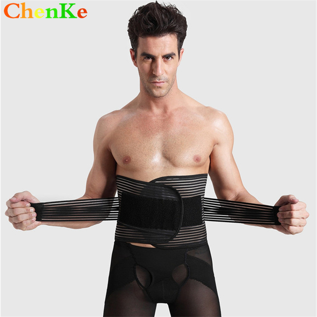 a5be7b05ca ChenKe Men s Adjustable Compression Waist Cincher Slimming Belt Men Body  Shaper Waist Trainer Shaper Recovery Support