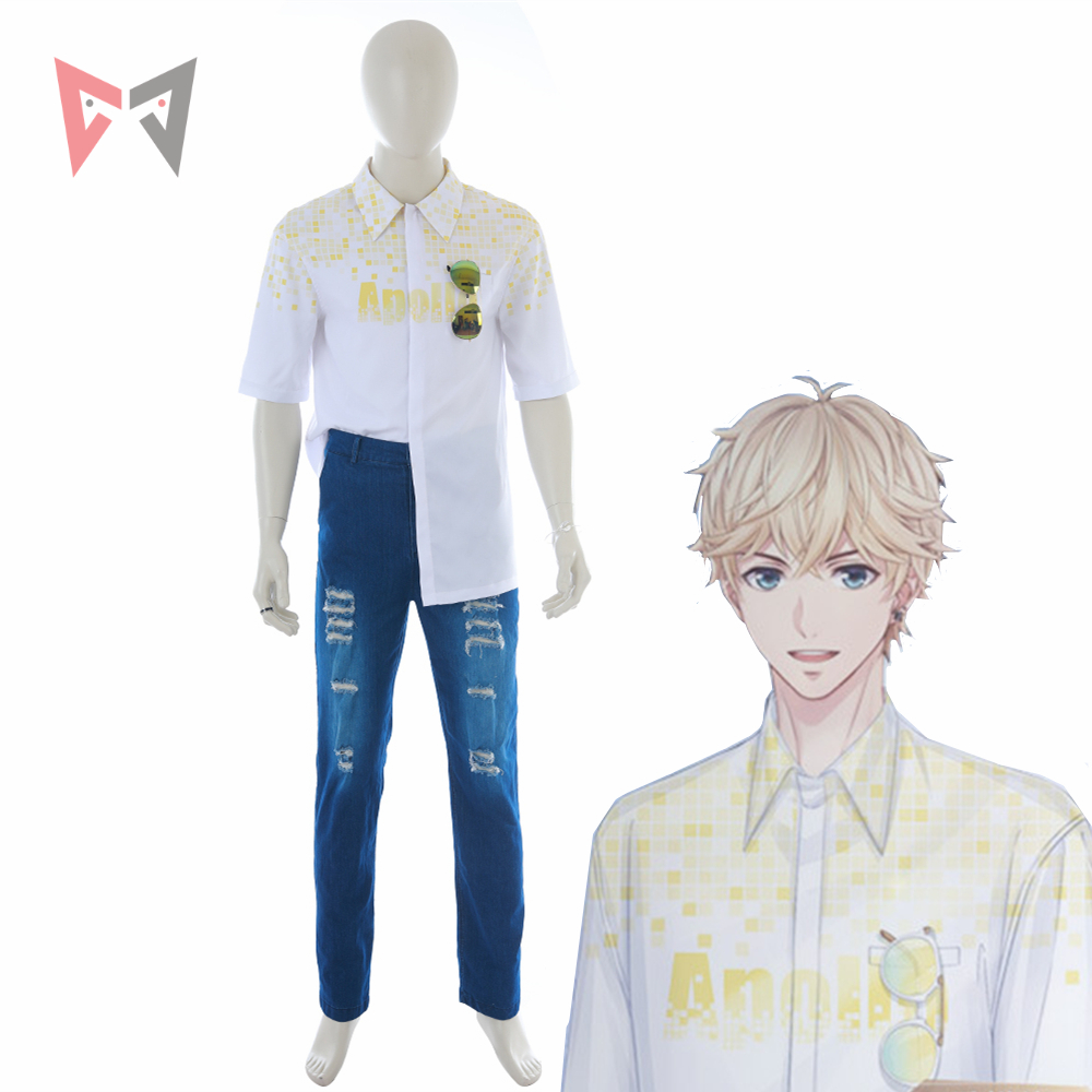 Love and Producer Zhou QiLuo Kilo Long Sleeve T Shirt Cosplay White Sweatshirt