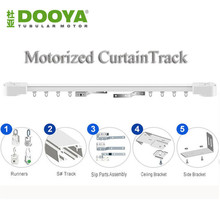 Купить с кэшбэком Dooya High Quality Electric Super Quiet Curtain track, Auto Motorized CurtainTrack For Remote Control Electric Curtain Motor
