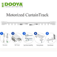 Dooya High Quality Electric Super Quiet Curtain Track Auto Motorized CurtainTrack For Remote Control Electric Curtain