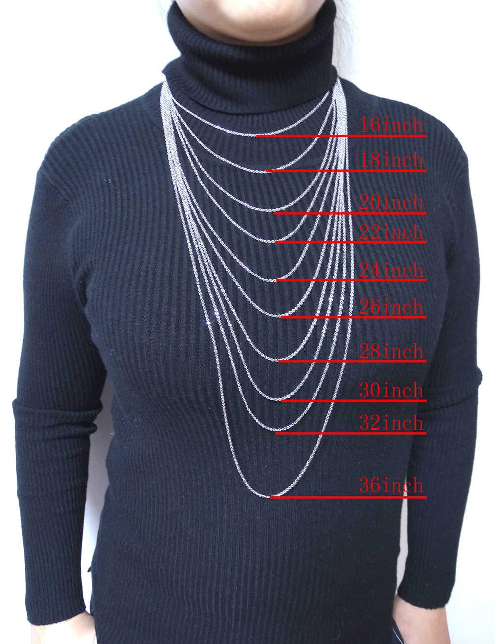 """Mężczyźni kobiety biżuteria 1mm 16 """"18"""" 20 """"22"""" 24 """"cali łańcuch linki modny naszyjnik ze stali nierdzewnej naszyjnik ze stali klasyczny pop łańcuchy Rolo"""
