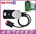 2014 R2 com Keygen Novo Vci TCS CDP com Bluetooth para obd obd2 obdii ferramenta de scanner de diagnóstico com a nec relés placa verde CDP