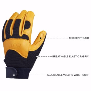 Image 4 - OZERO Deerskin Men Work Driver Gloves Leather Security Protection Wear Safety Workers Working Racing Garage Gloves For Men  8003