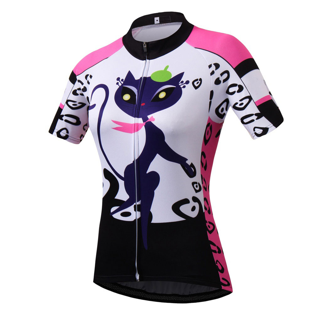 Retro Women's Cycling Jersey Short Sleeve Mountain Bike Jersey Race Fit Ladies Cycling Clothing Full Zipper Bicycle Jersey S-5XL