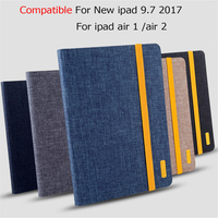 Silicon Cloth PU Leather Case For Apple New IPad 9 7 2017 Smart Protective StandCover For